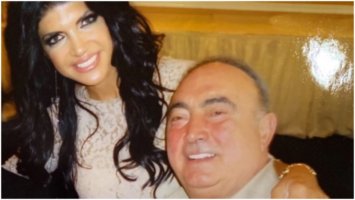 Teresa Giudice poses with her father Giacinto Gorga.