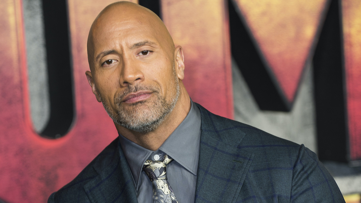 dwayne johnson at Jumanji: Welcome To The Jungle UK Premiere