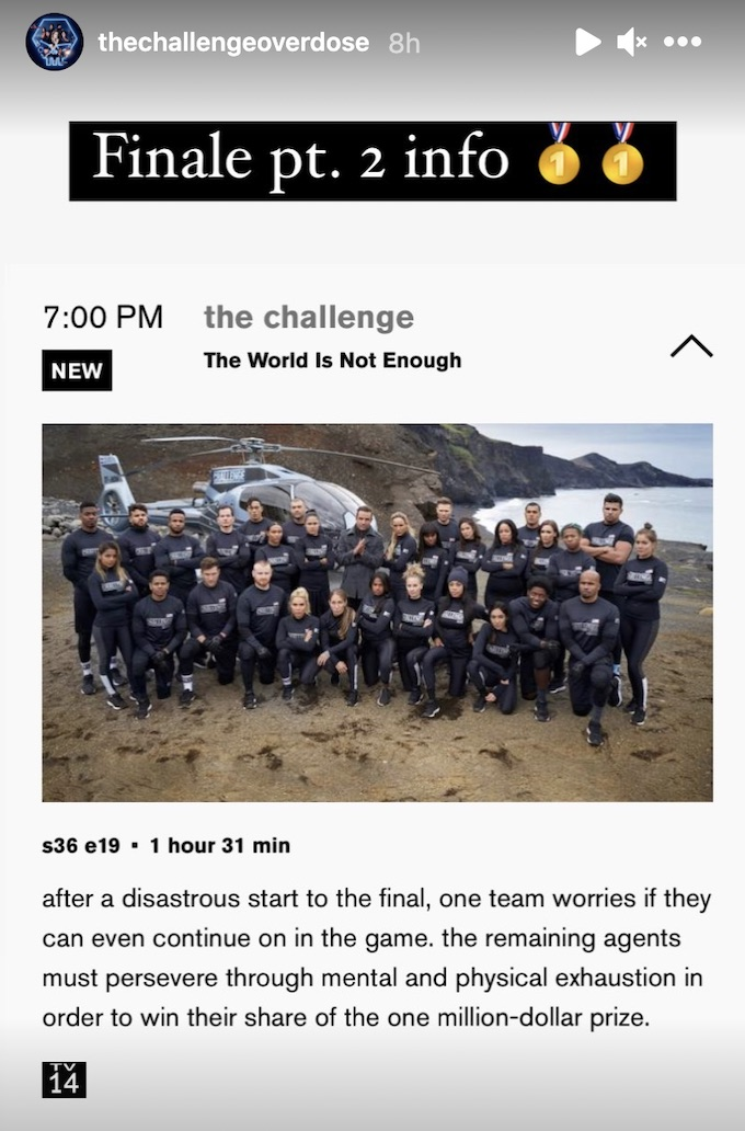 the challenge 36 spoilers for double agents finale