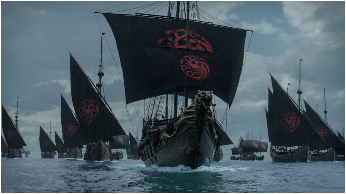 Targaryen ships that featured in Season 8 of HBO's Game of Thrones