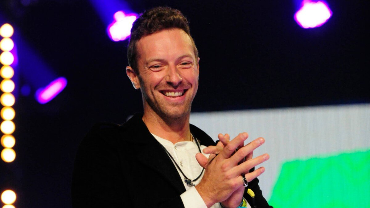 Chris Martin performing on-stage