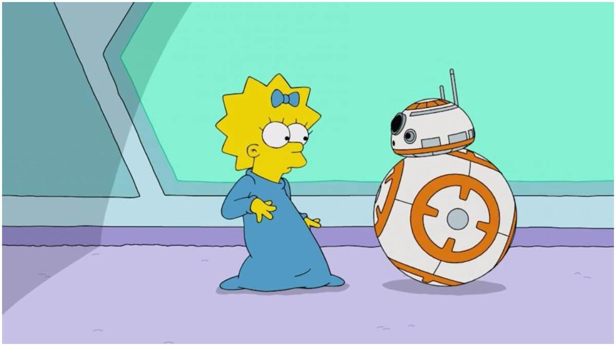 Maggie Simpson encounters R2-D2
