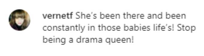 A fan thinks Devoin is being a drama queen