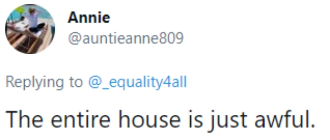 """A fan thinks Margaret's house is """"awful"""""""