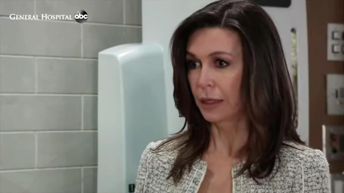Finola Hughes as Anna on General Hospital.