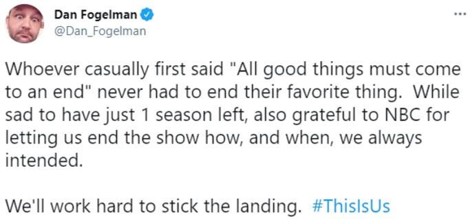 Dan Fogelman tweets