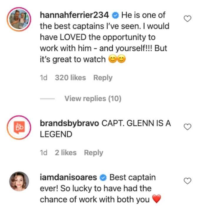 Hannah and Dani are Captain Glen fans.