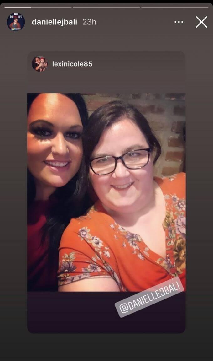 Danielle shares photos on Instagram