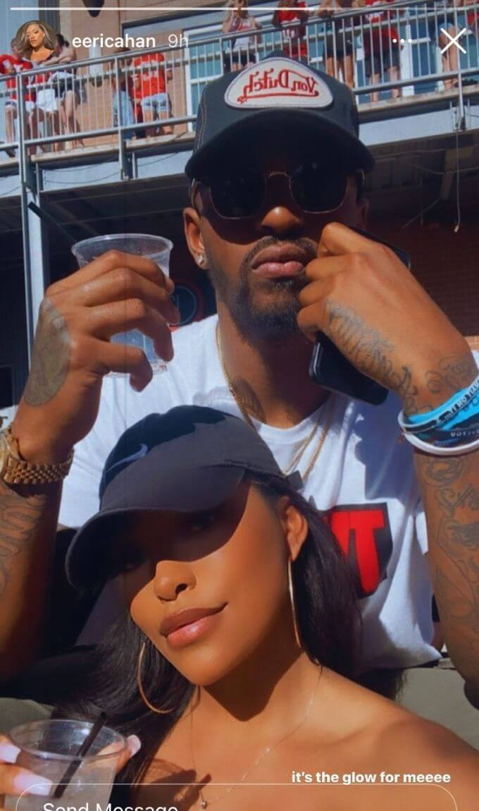 Erica Washington shares a photo with her new man