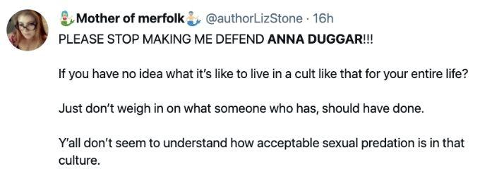 Tweet about Anna Duggar