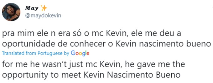 Fan pays tribute to MC Kevin on Twitter