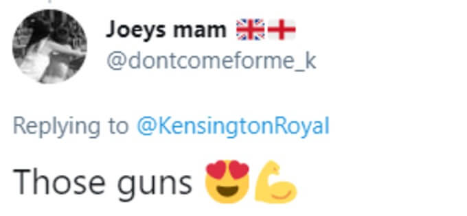 Fan praises William's guns