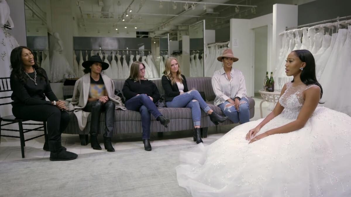 Tee Tee tries on wedding dresses on Growing Up Hip Hop