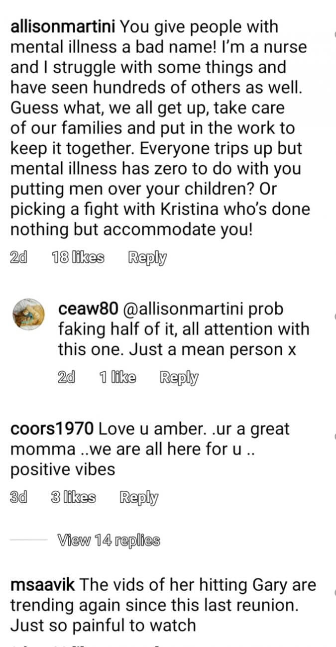 Amber Portwood of Teen Mom OG on Instagram