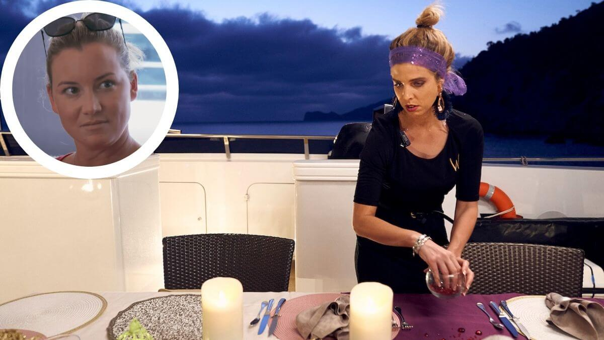 Bugsy Drake from Below Deck Mediterranean disses Hannah Ferrier's table decor talents.