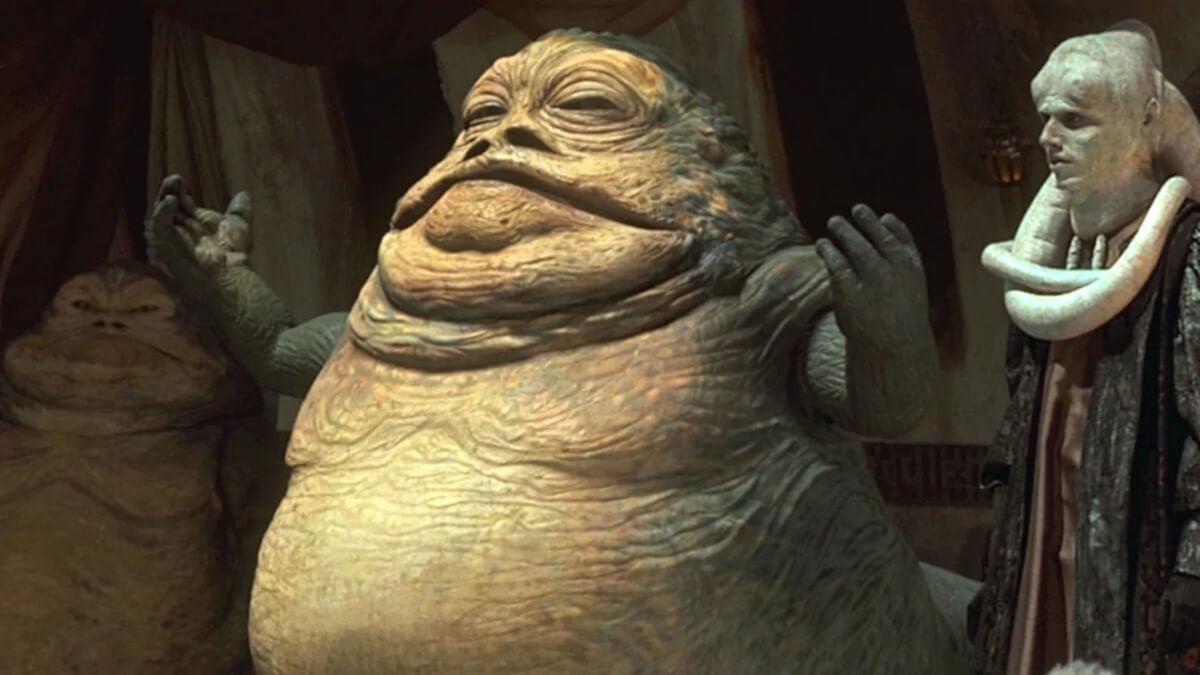 Jabba the Hutt in his temple