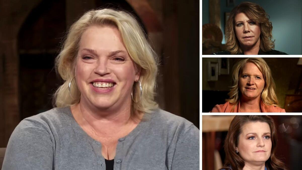 Janelle Brown with Meri, Christine and Robyn Brown of Sister Wives