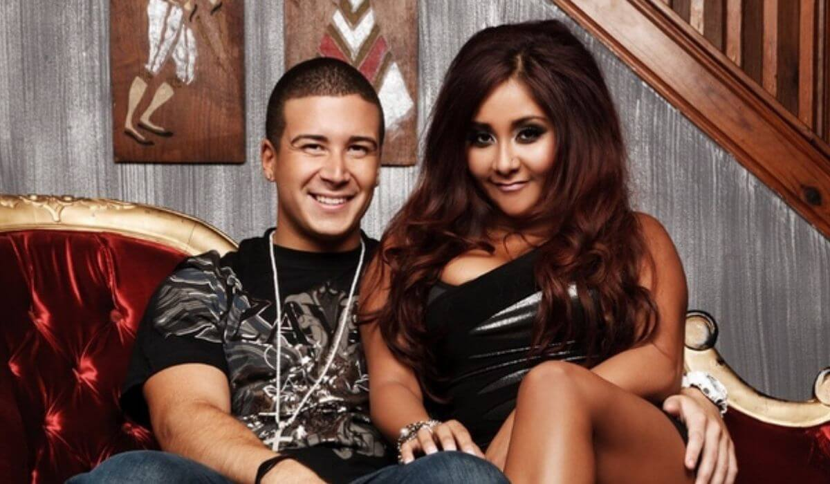 Snooki and Vinny back in the day at the original Jersey Shore house.