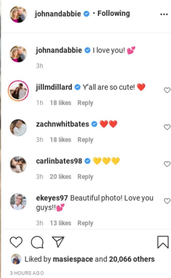 """Jill calls John and Abbie """"so cute"""""""