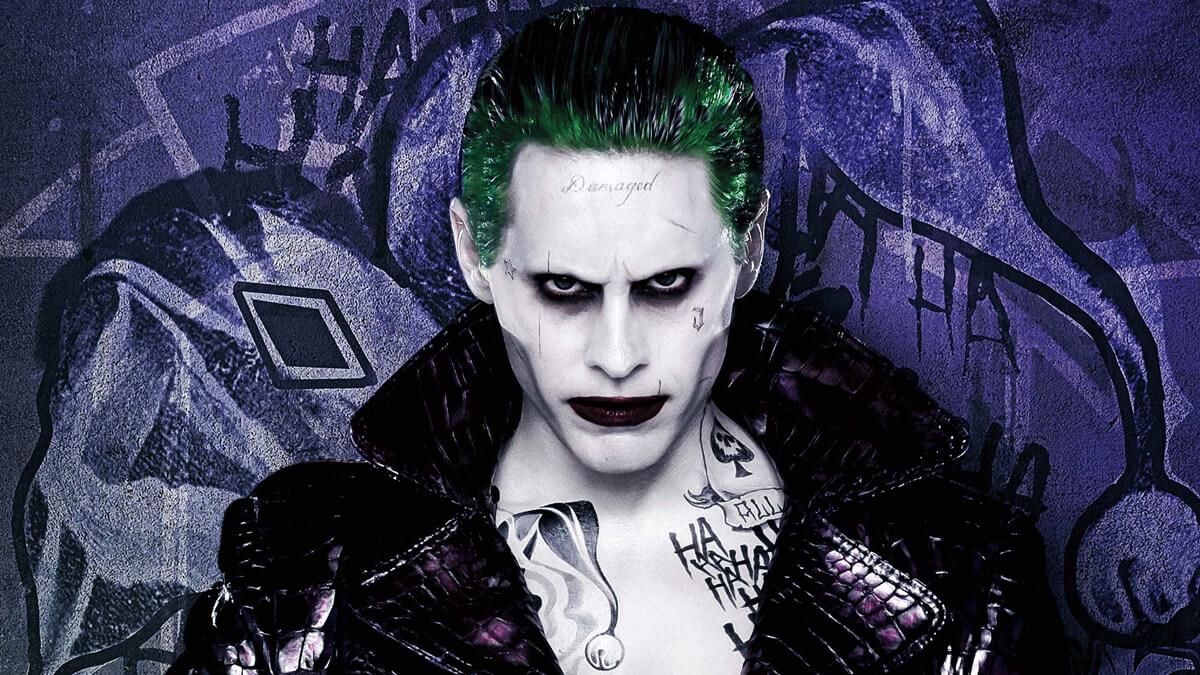 Joker smiling in Suicide Squad movie