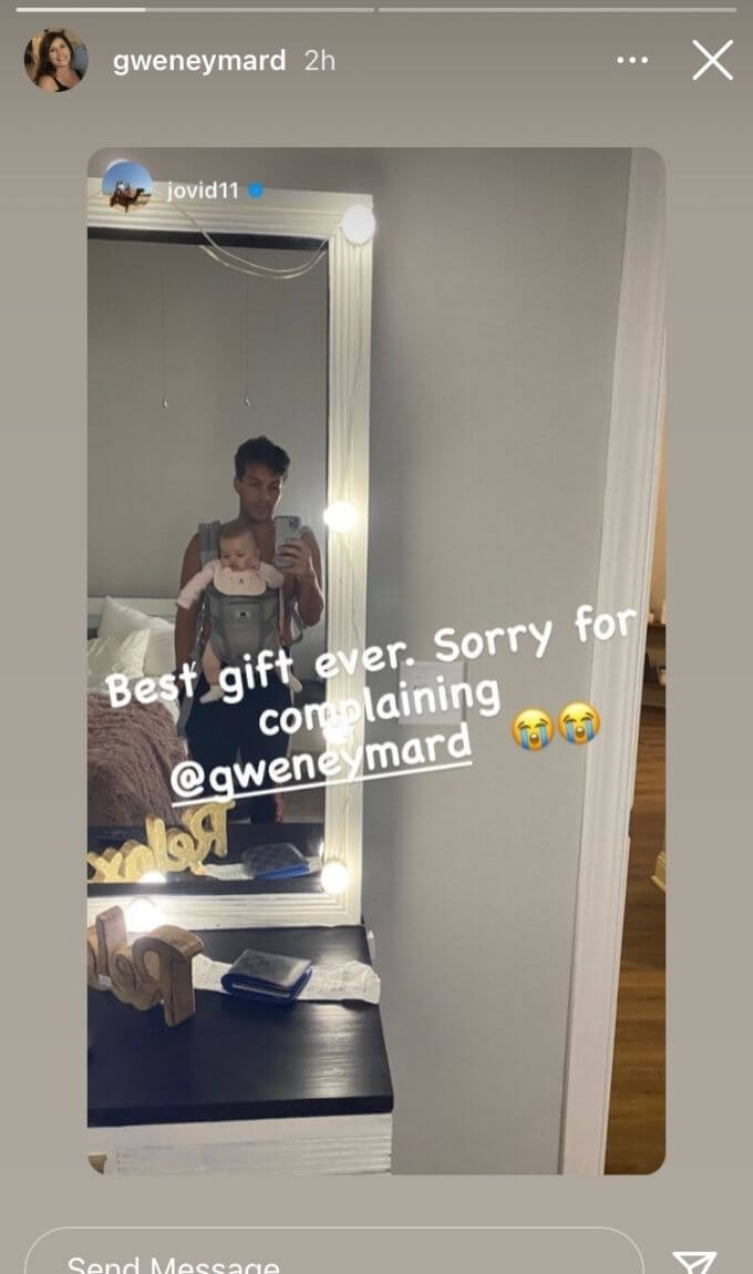 Gwen's IG repost of Jovi