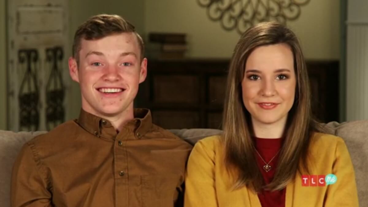 Justin Duggar and Claire Spivey in a Counting On confessional.