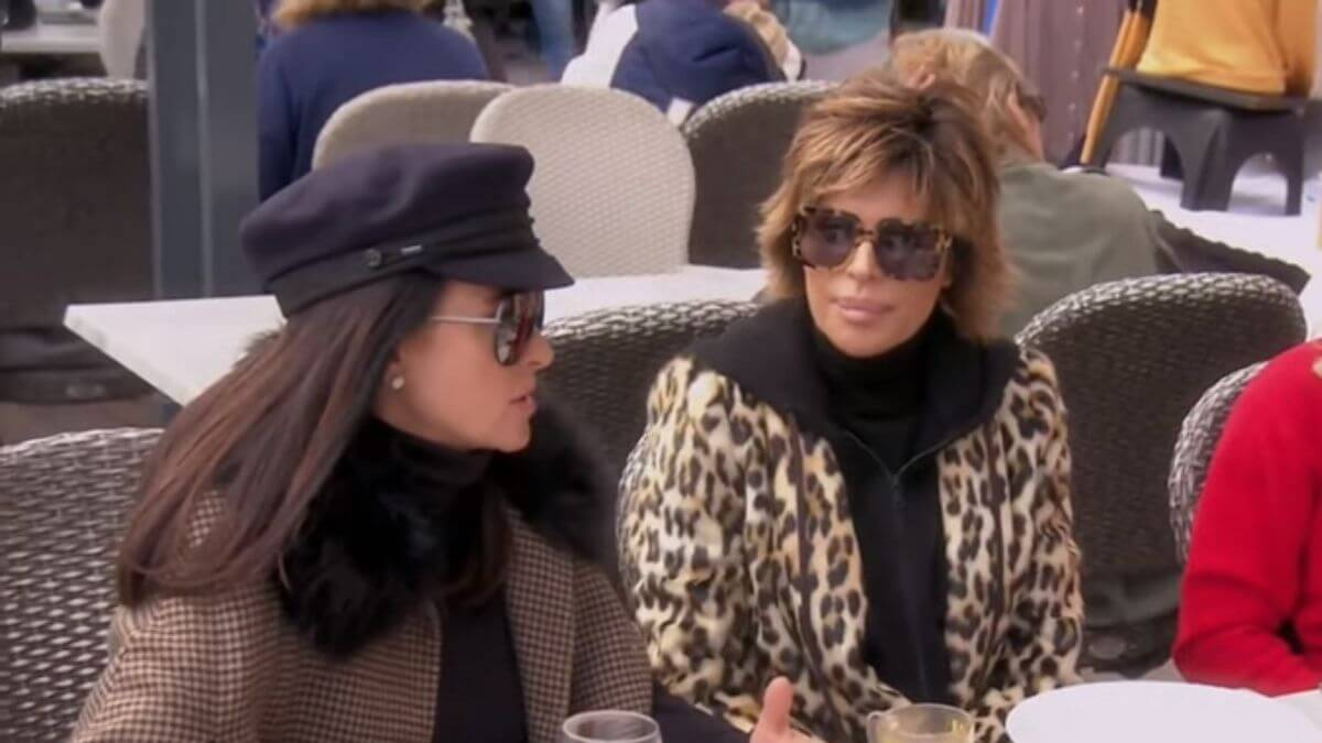 Lisa Rinna and Kylle Richards dish Garcelle Beauvais in The Real Housewives of Beverly Hills Season 11 premiere.