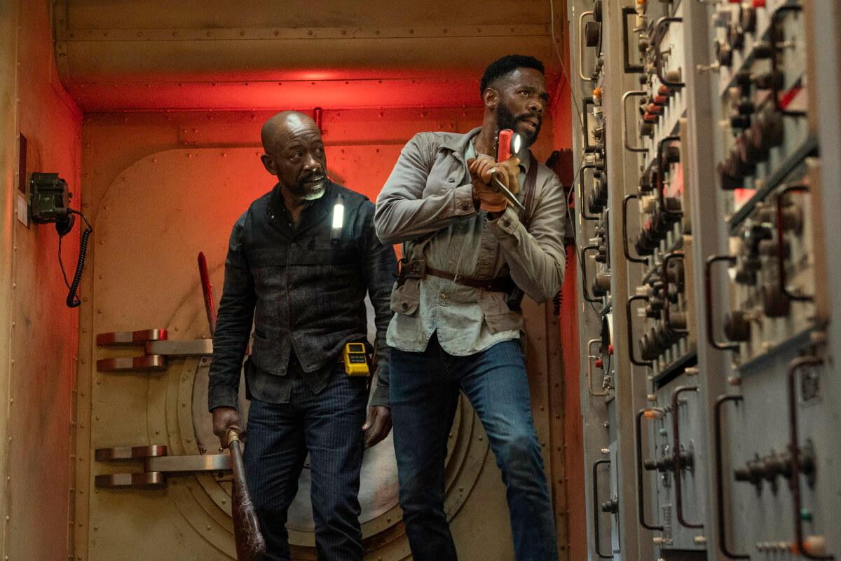 Lennie James as Morgan Jones and Colman Domingo as Victor Strand, as seen in Episode 15 of AMC's Fear the Walking Dead Season 6