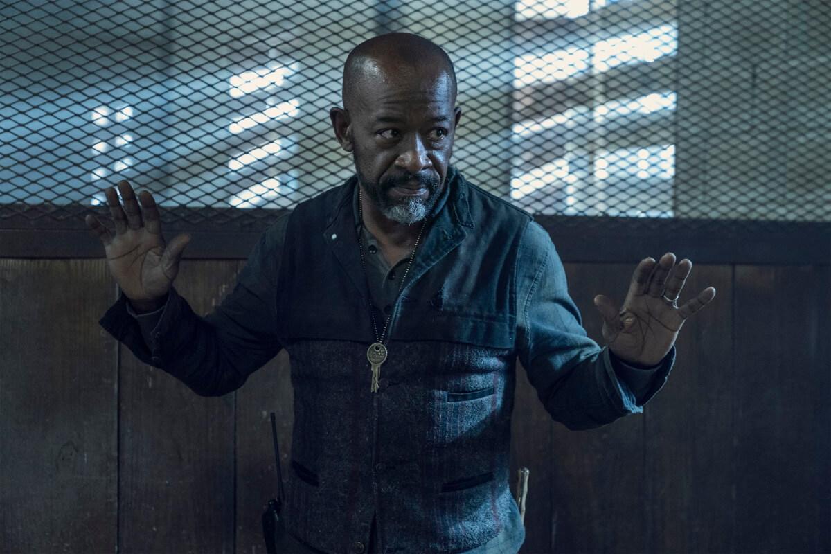 Lennie James as Morgan Jones, as seen in Episode 12 of AMC's Fear the Walking Dead Season 6