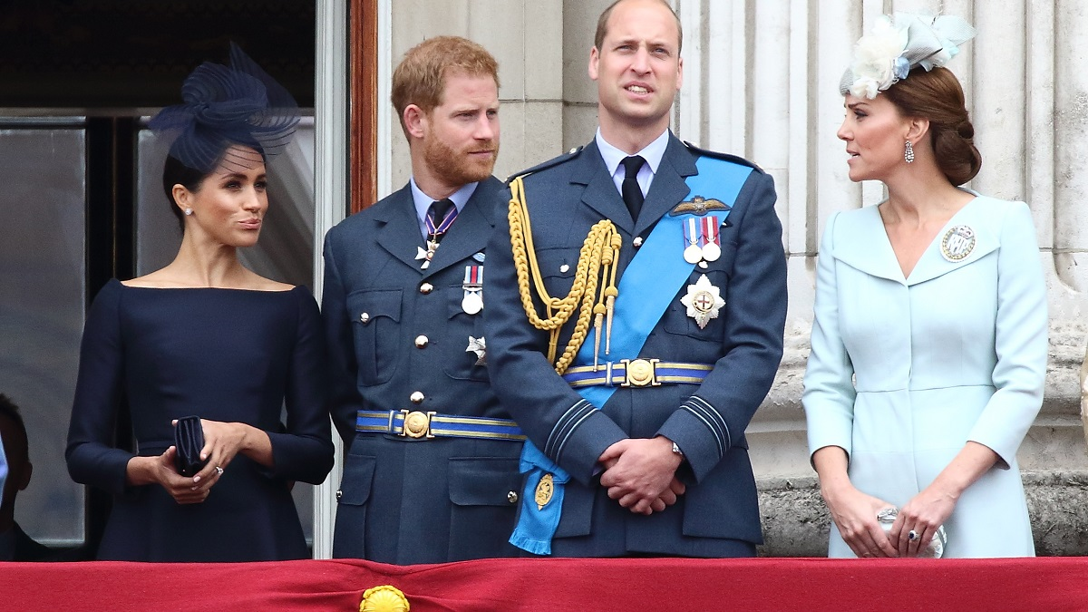 Prince Harry, Prince William, Kate Middleton, and Meghan Markle.