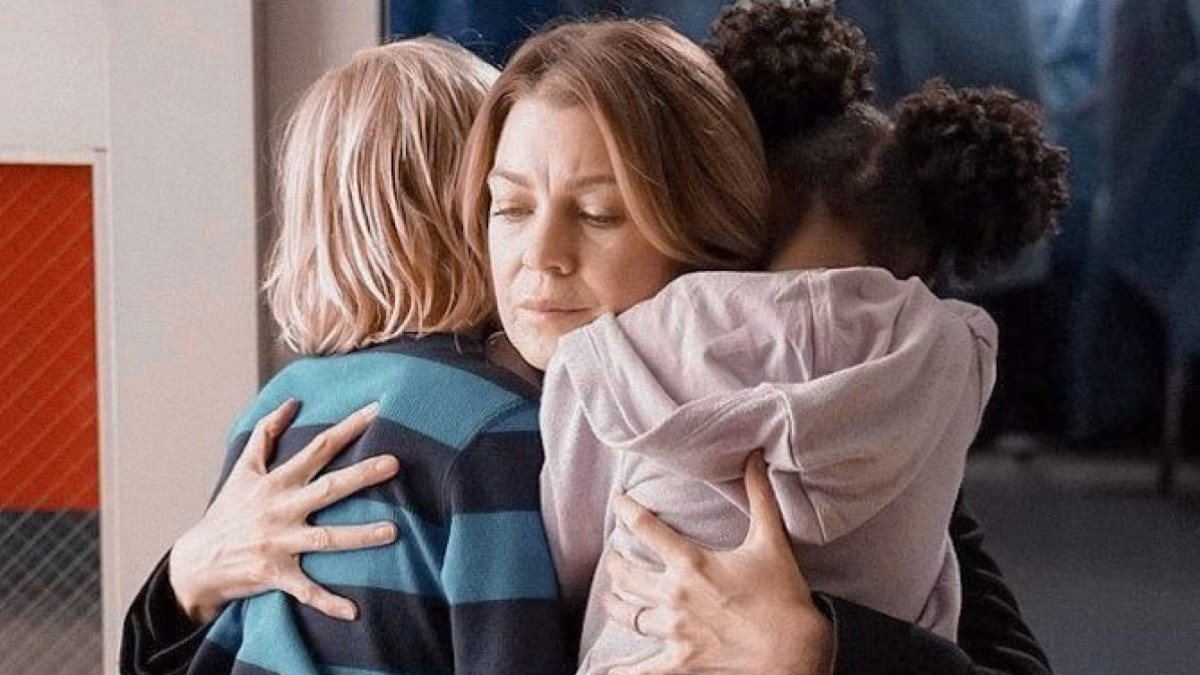 Meredith And Her Kids On Grey's
