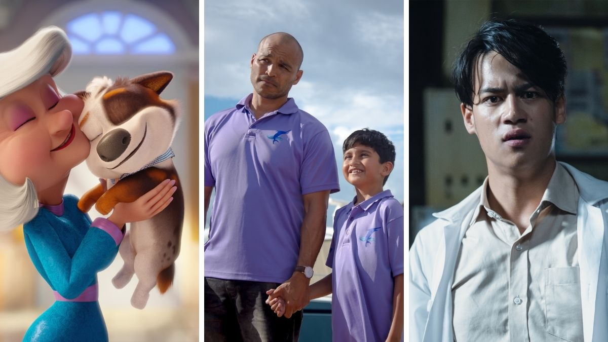 Posts for three movies coming to Netflix: Dog Gone Trouble, Blue Miracle and Ghost Lab.