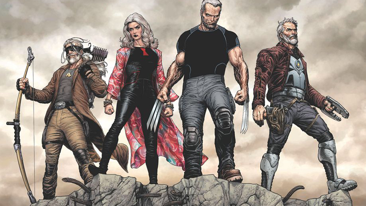Old Man Logan and other heroes in Marvel Wastelanders