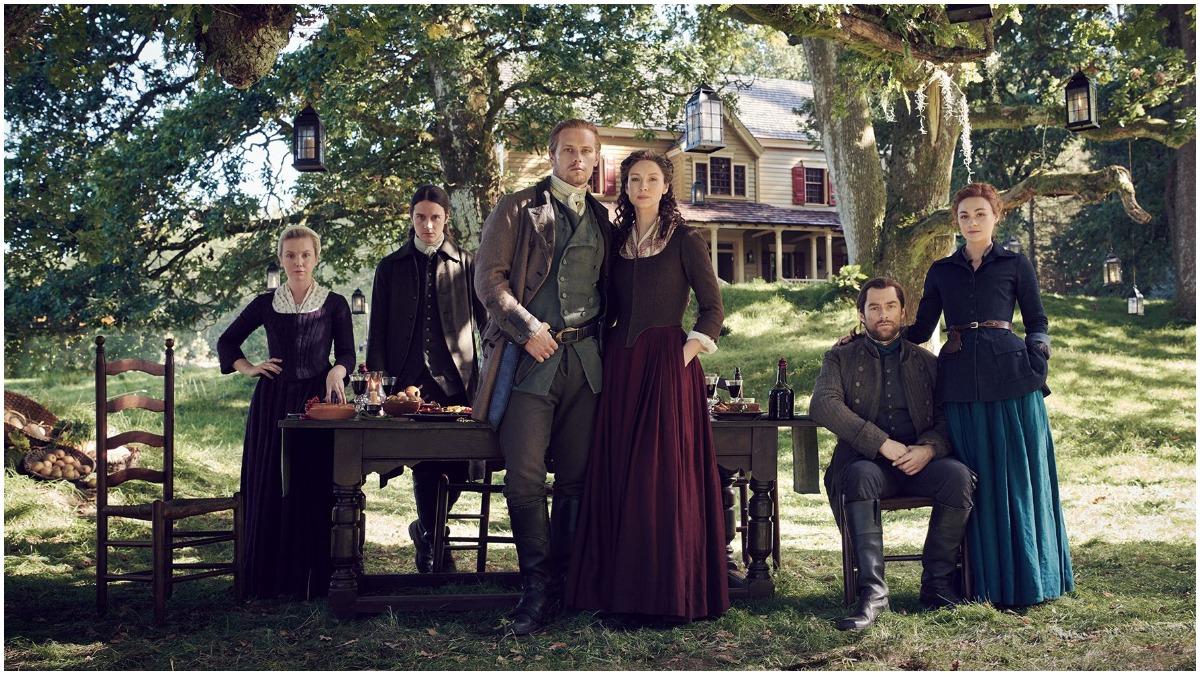 Season 5 cast portrait for Starz's Outlander