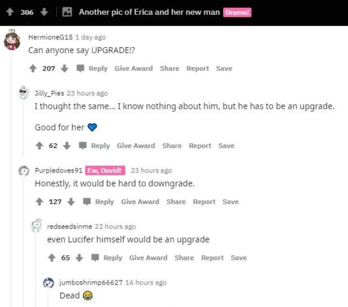 Reddit thread about Erica Washington