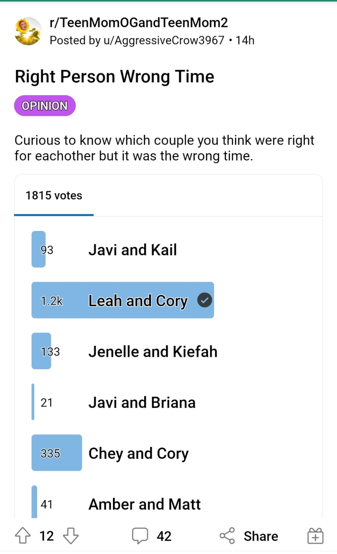 Leah Messer and Corey Simms of Teen Mom 2 on Reddit