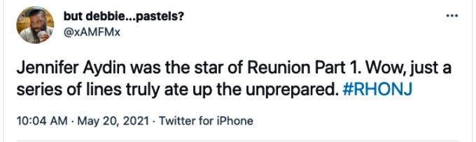 RHONJ fan gives props to Jennifer Aydin