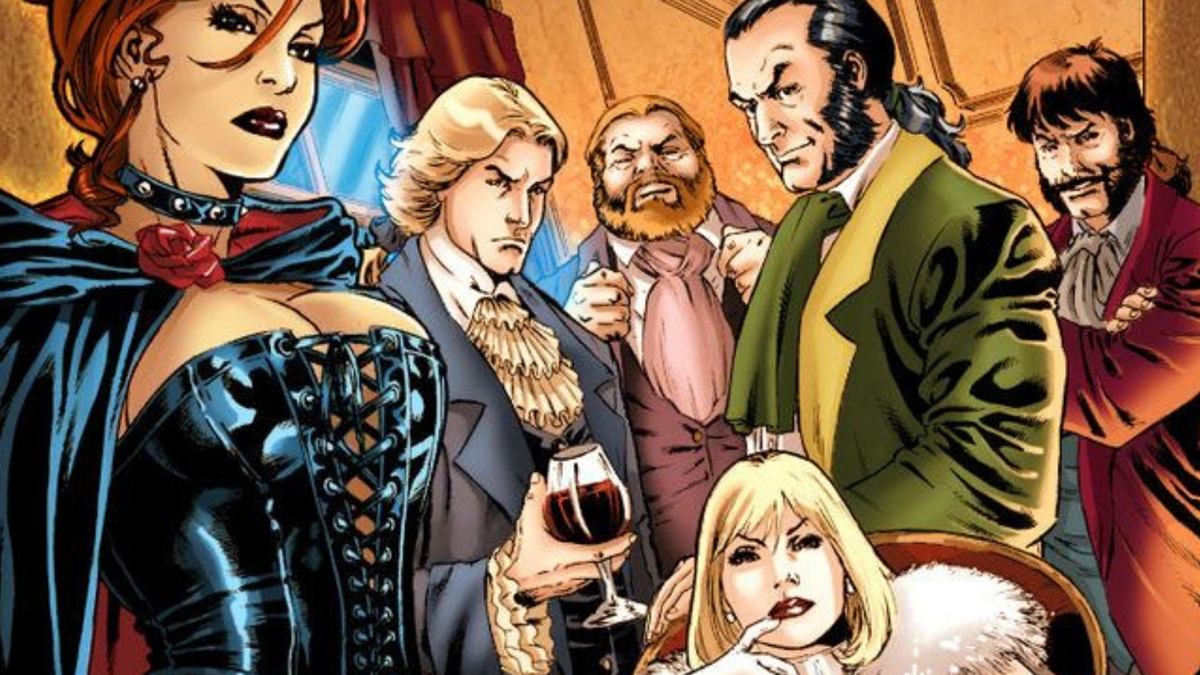 The members of the Hellfire Club.