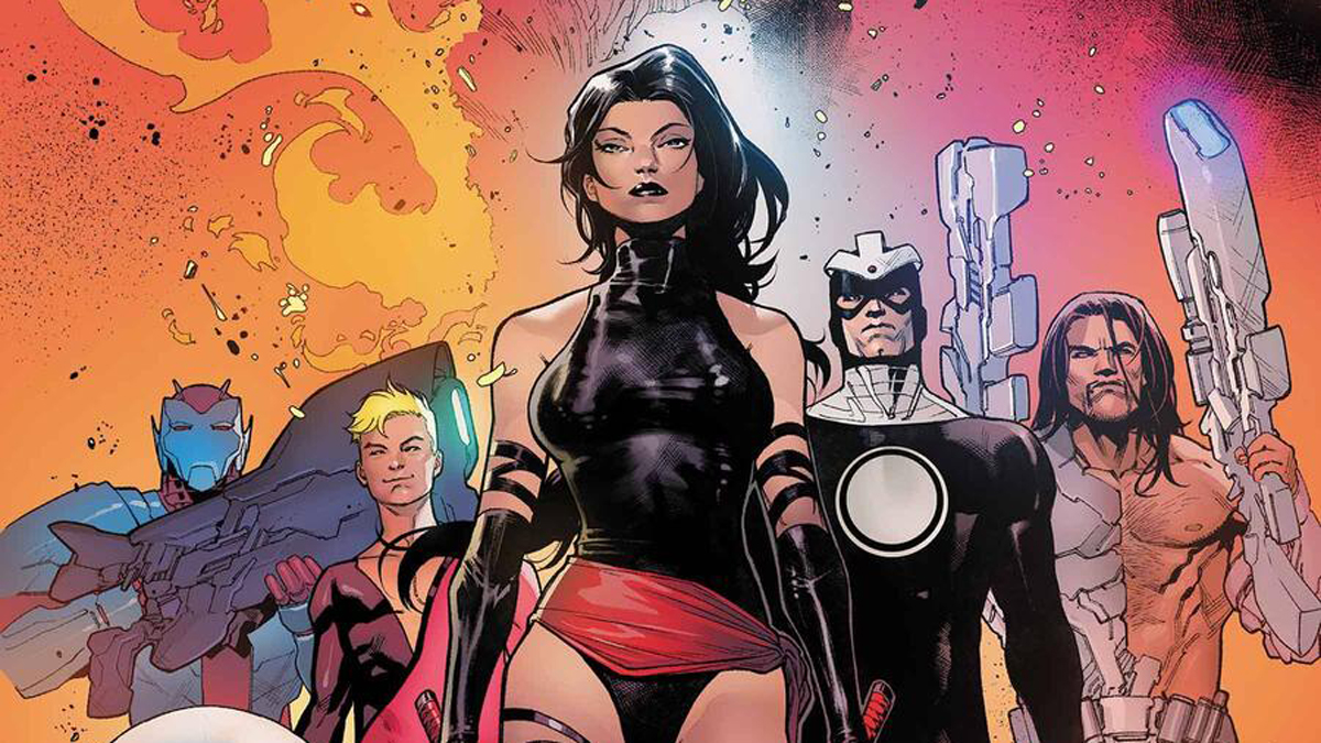 Domino leading the Hellions.