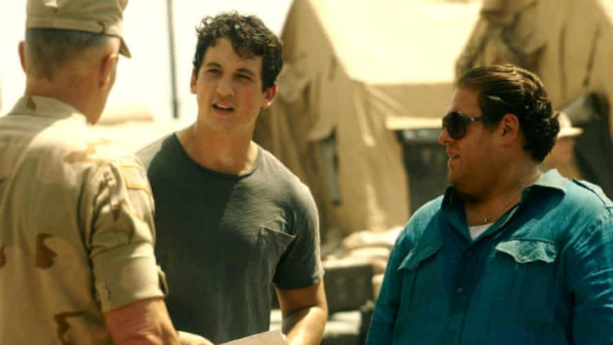 Jonah Hill and Miles Teller in War Dogs.