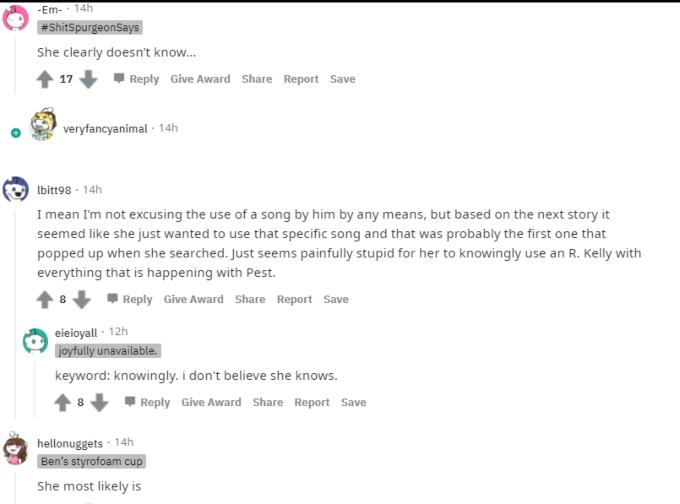 Jill Duggar on Reddit