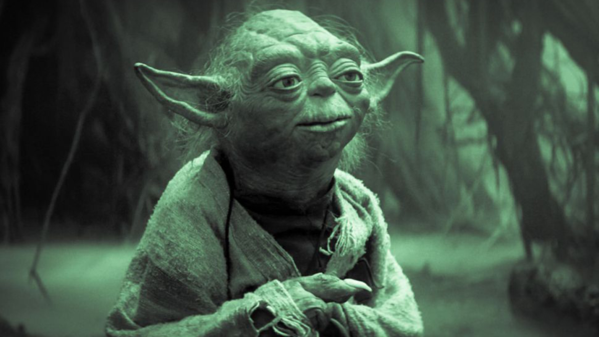 Yoda in the swamps of Dagobah