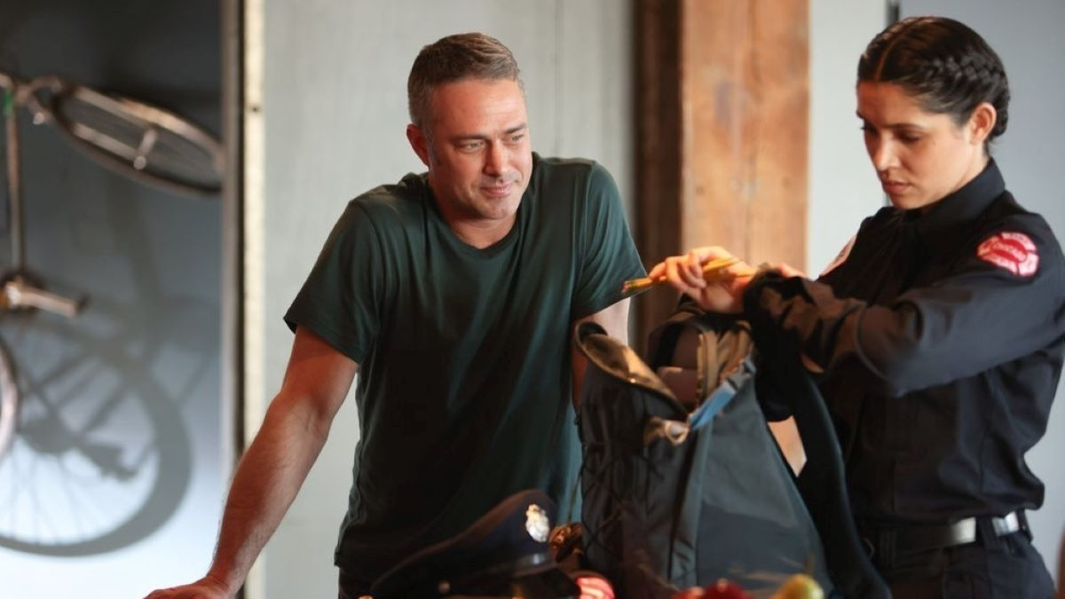Production still from Chicago Fire