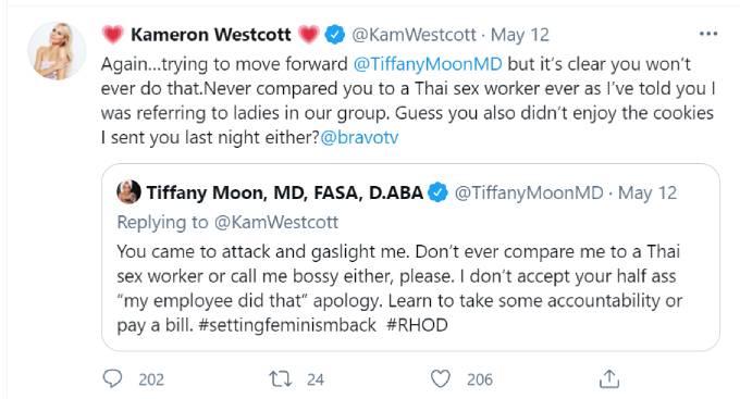 Kameron replies to Tifany