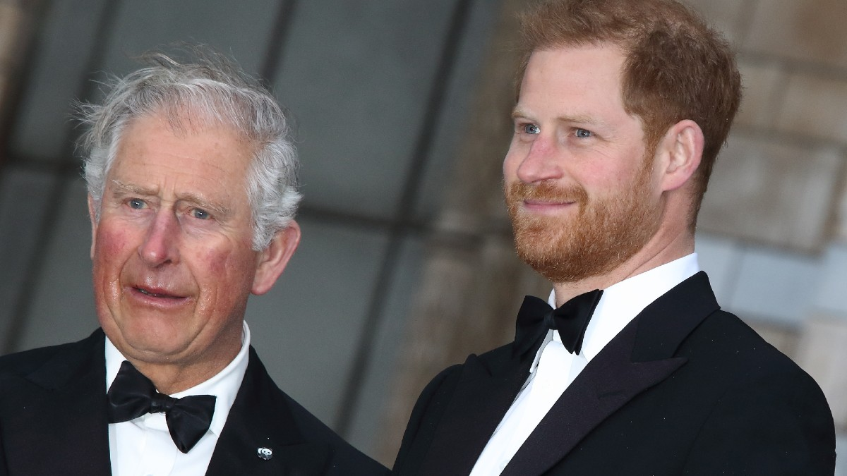 Prince Harry and Charles attending a royal event