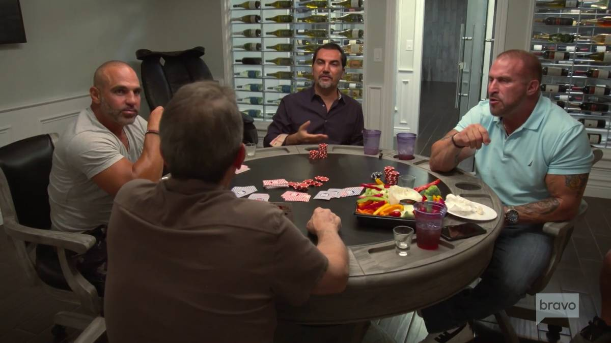Bill Aydin, Joe Benigno, Frank Catania and Joe Gorga film for RHONJ