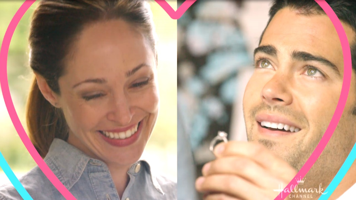 Jesse Metcalfe proposes to Autumn Reeser in the Hallmark Channel movie Country Wedding