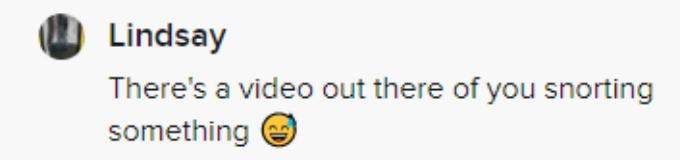 A fan implied that Jenelle was using cocaine