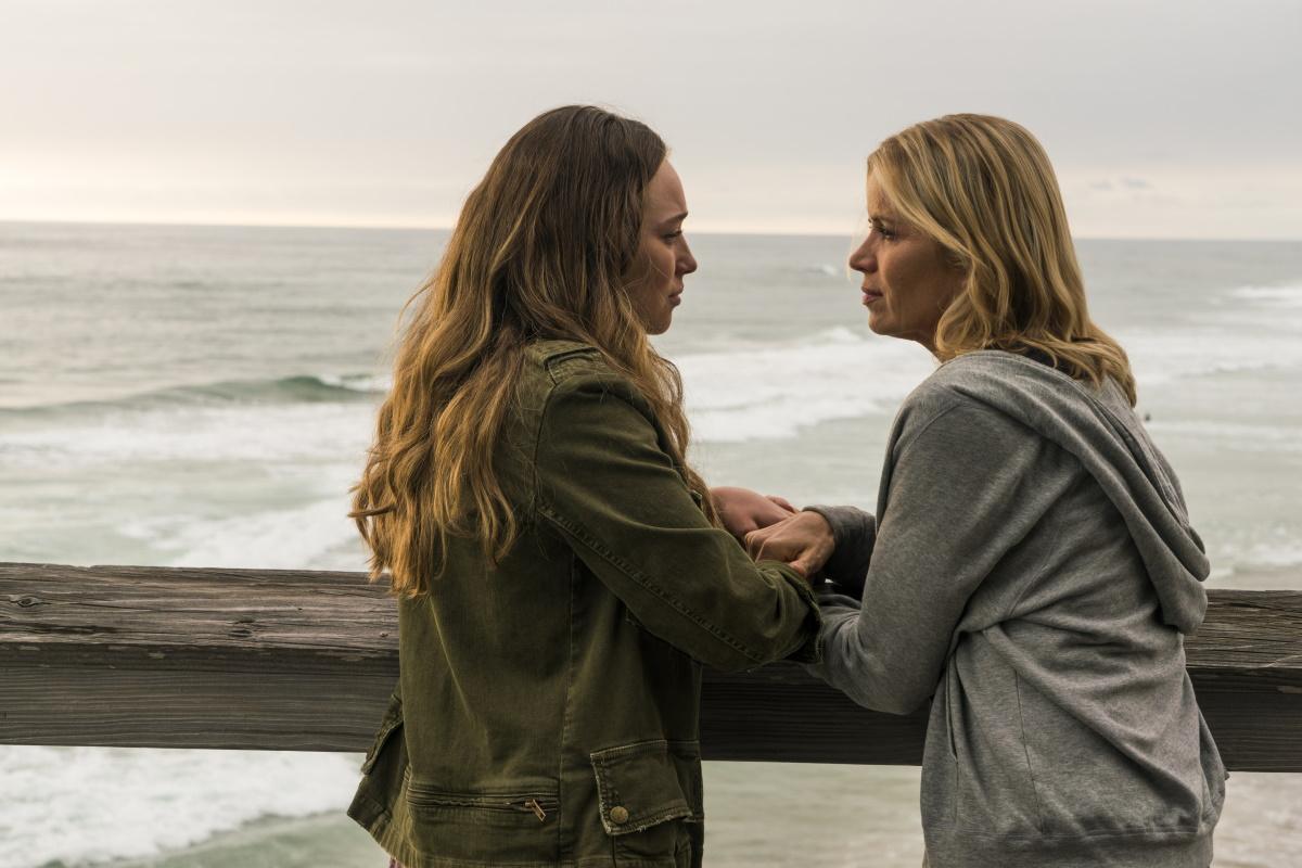 Alycia Debnam-Carey as Alicia Clark, Kim Dickens as Madison Clark, as seen in Episode 13 of AMC's Fear the Walking Dead Season 2