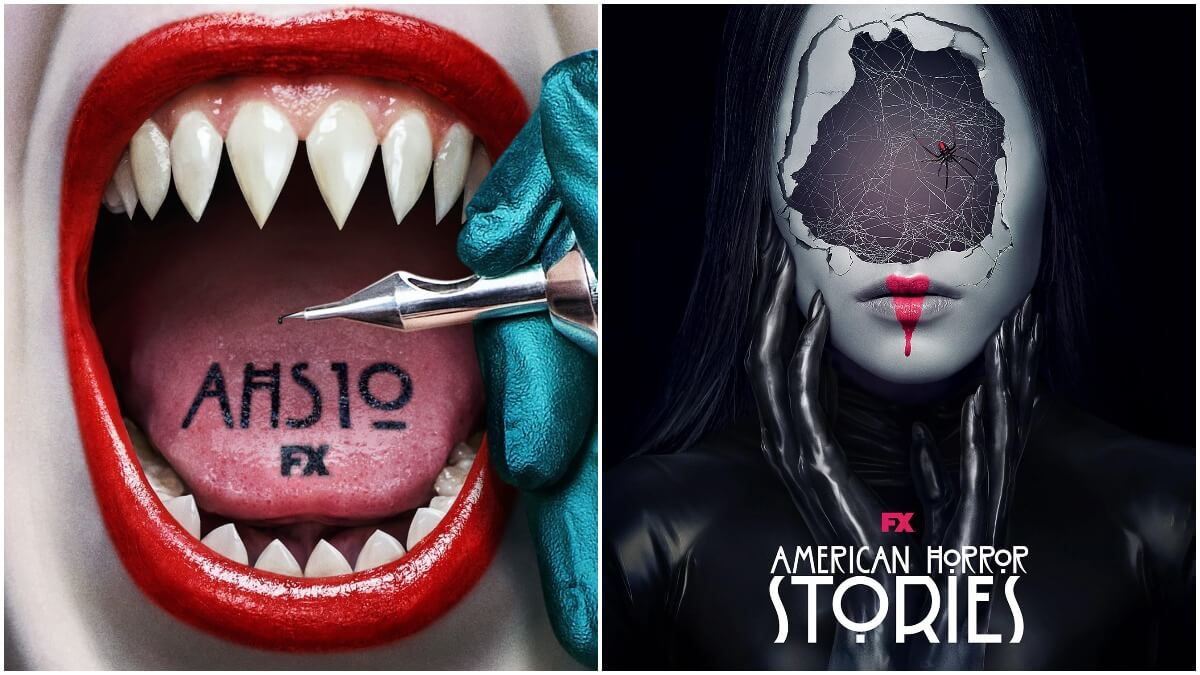 Posters for Season 10 of American Horror Story and Season 1 of American Horror Stories